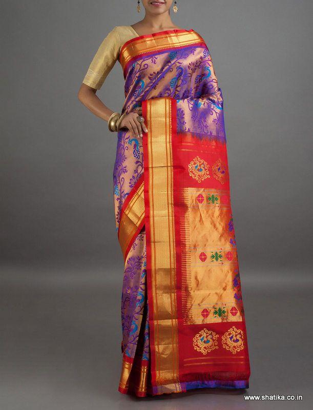 Radhika Full Borcade Wedding Collection Pure Zari #PaithaniSilkSaree