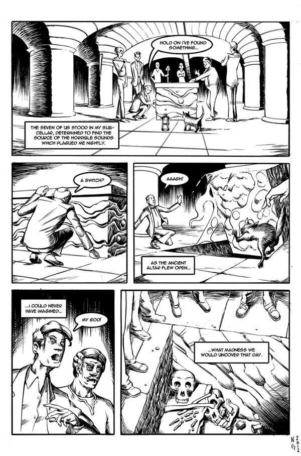 The Rats In The Walls Page1 By Electronicron Rats Wall Lovecraft