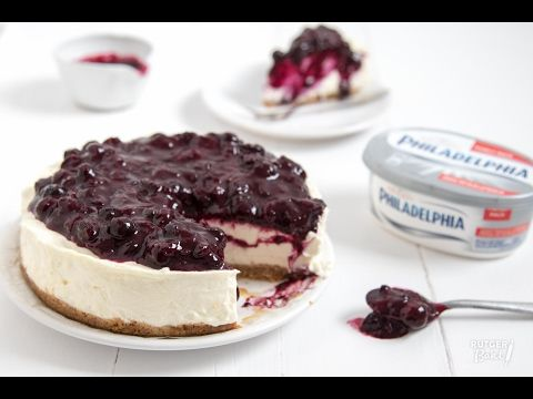 Frisse Philadelphia cheesecake met citroen en blauwe bessen – recept - Rutger Bakt