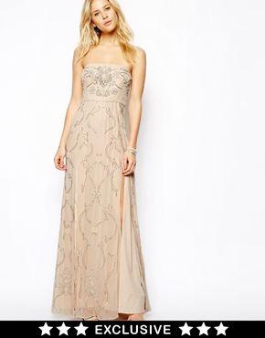 Imagen 1 de Vestido largo de graduación con adornos de Needle & Thread