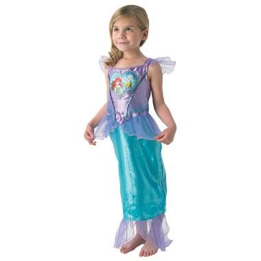 Disney Ariël jurk - maat 92/116  Ga verkleed als Ariël uit De Kleine Zeemeermin. Dit kostuum bestaat uit een paars bovenstukje met een lange turquoise rok.  EUR 42.16  Meer informatie
