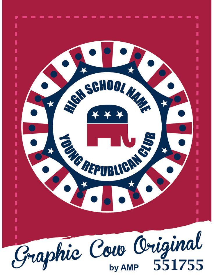 High School young republican club elephant stars  #grafcow