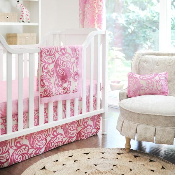 New Arrivals | French Quarter White and Pink Baby Bedding Set
