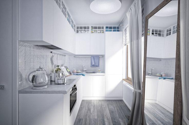 дизайн-проект маленькой квартиры в нью-йоркском стиле