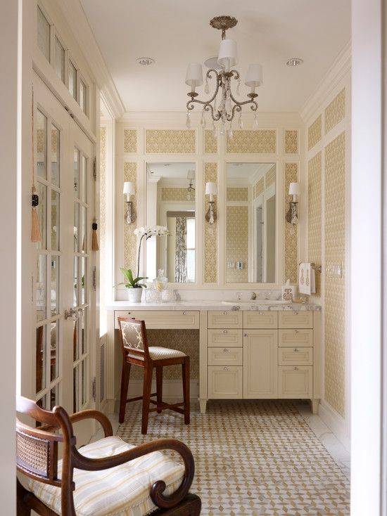 Photo Image Lakeshore Drive Co Op Traditional Powder Room chicago by Tom Stringer Design Partners