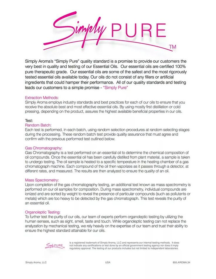 Simply Pure - The types of testing done on the Simply Aroma Essential Oils. www.simplyaroma.com/krystalbutler