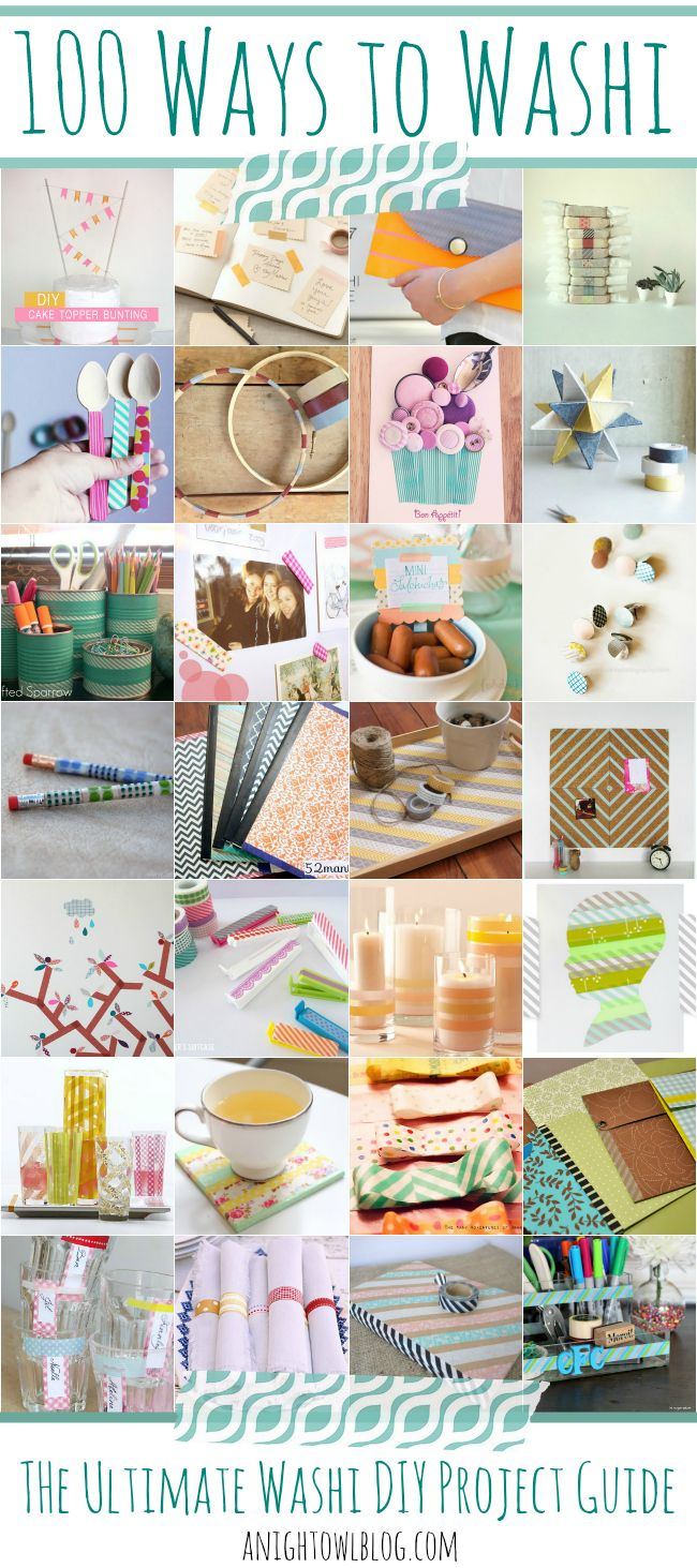 100 Ways to Washi - The Ultimate Washi Tape DIY Project Guide! TONS of great uses for your washi tape collection. #washi #washitape #thewashiblog