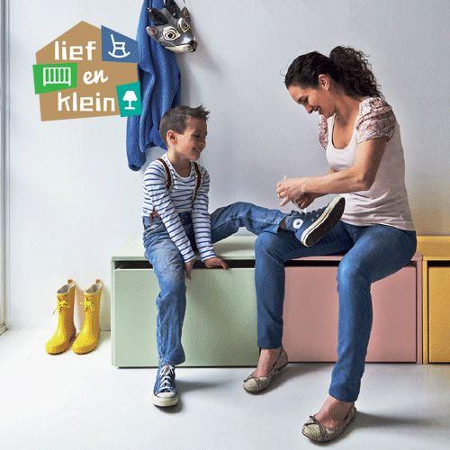 Aanbieding Flexa Play opberg zitbankje nachtkastje 2 stuks - Lief en Klein