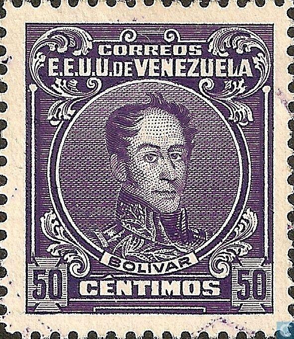 Stamps - Venezuela - Simon Bolivar 1915