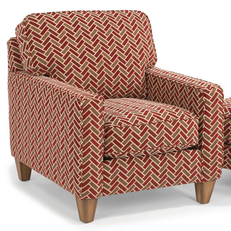MacLeran Upholstered Chair With Reversible Seat Cushions And Welt Cord  Accent By Flexsteel At Conlinu0027s Furniture