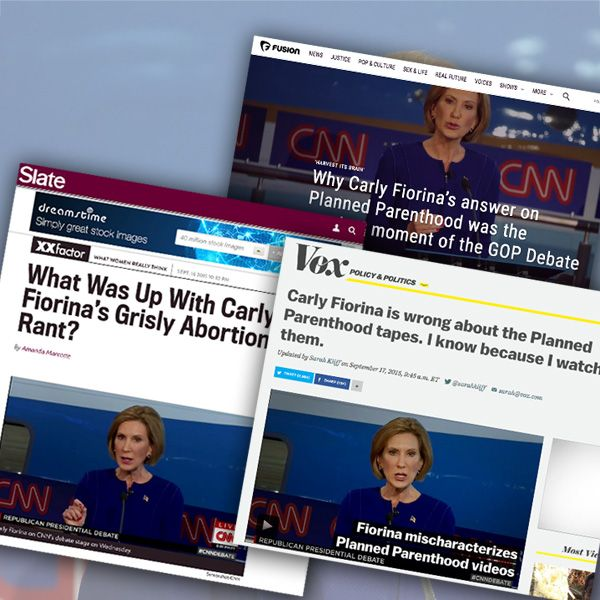 Abortion defenders attack Fiorina for telling the truth