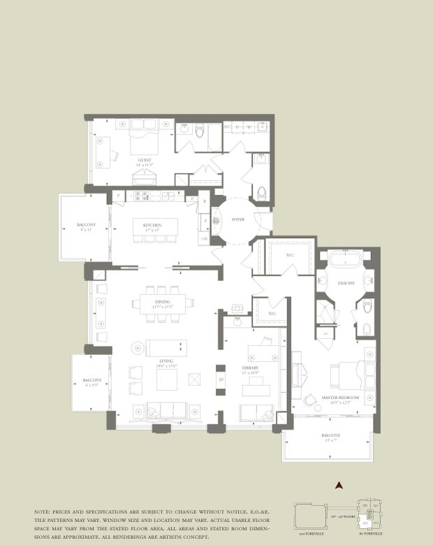 80 100 Yorkville Avenue Toronto In 2020 Apartment Floor Plans Floor Plans Floor Plan Layout