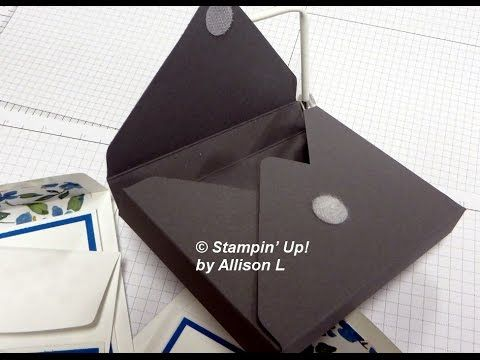 Envelope Punch Board Note Card Box - creates a box for a cool set of birthday notecards.