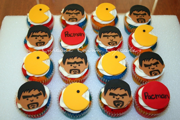 "Manny ""Pacman"" Pacquiao Cupcakes...These Are Awesome!"