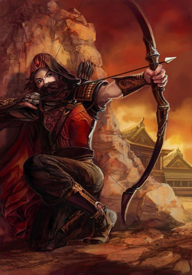 Casana: human, archer, loner