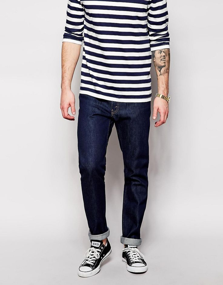 Темно-синие джинсы мужские Nudie