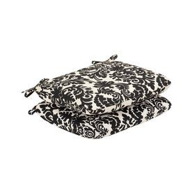 Pillow Perfect Essence Black Beige Damask Seat Pad For Universal 35350