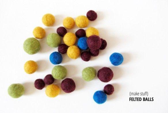 FELT BALLS DIY