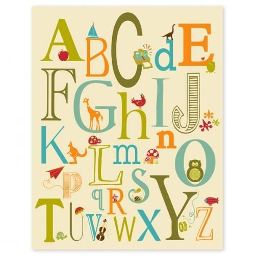 Cute Alphabet Poster.