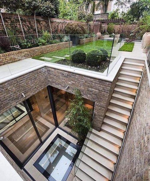 underground house with a ground floor garden