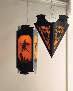 DIY Halloween lanterns. These are so cool! :-)