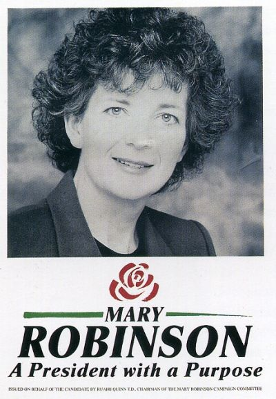 Mary Robinson - With a career spanning law, politics and diplomacy over decades and across the globe, Robinson's electoral success was the springboard to a lifetime devoted to being a voice for the vulnerable, both in Ireland and worldwide.