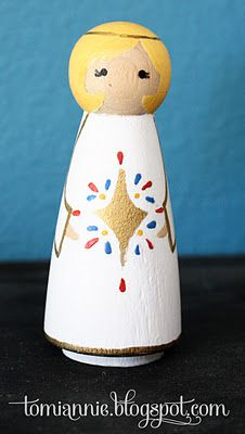 DIY Peg doll nativity set #Christmas