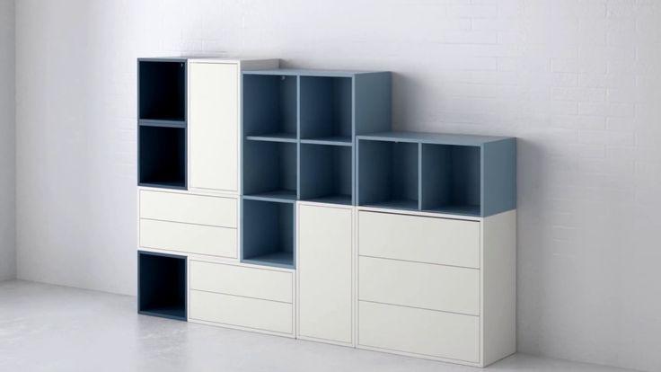 EKET er en fleksibel serie af modulopbygget elementer i forskellige farver. Moderne opbevaringløsning der giver uendelig mange kombinationemuligheder.