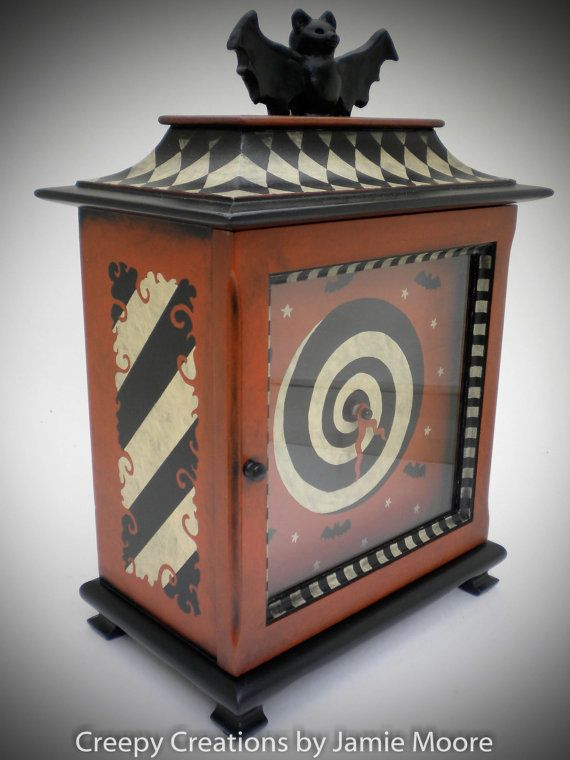 Whimsical+Halloween+Antique+Mantel+Clock++A+by+creepycreations