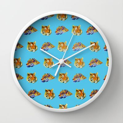 Tigers Wall Clock by Nahal - $30.00