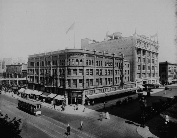 Hudson's Bay Store on Granville Street, Vancouver, June 1918