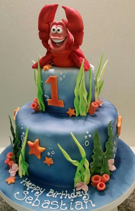 Sebastian The Crab Birthday Cake