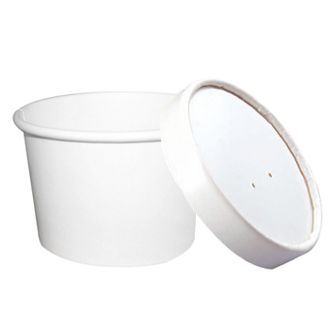 Plain white containers are the ultimate blank canvas. They can be easily decorated or customized with labels, ribbons, or homemade pompoms! 8 oz. capacity
