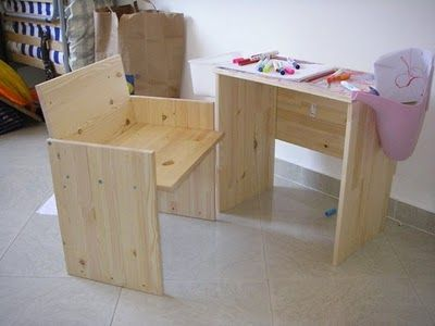IKEA Rast Nightstand Hack: Little desk and armchair
