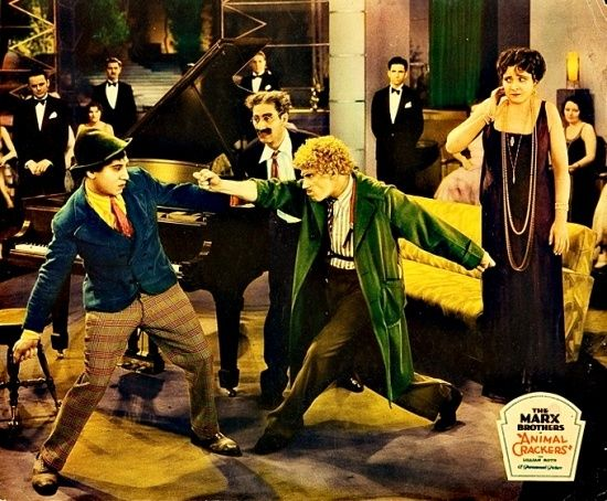 Lobby card for Animal Crackers (1930)  starring the Marx Brothers.