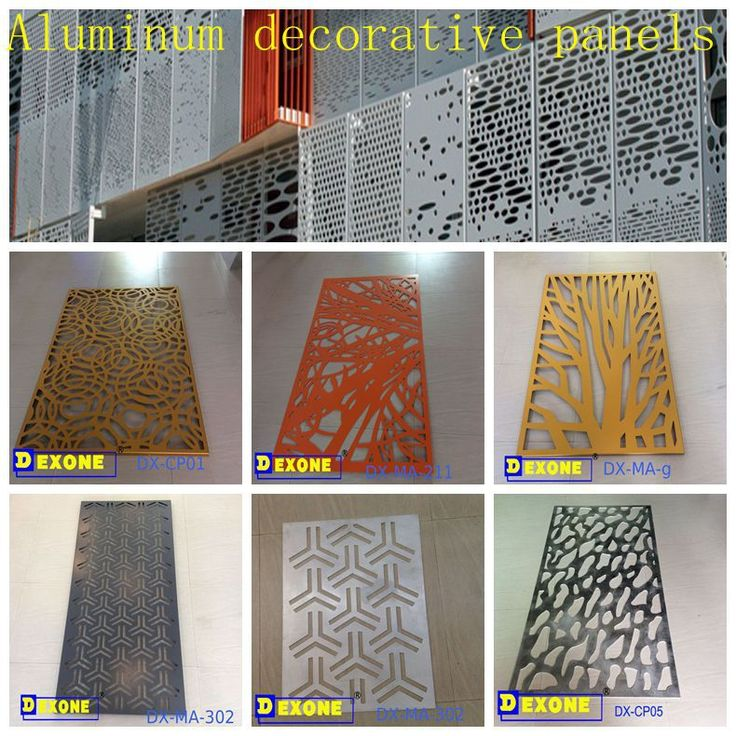 Aluminum Perforated Sheet Metal Fence Panel For Decorative