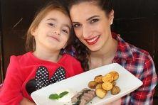 Lammlachs mit Minzsoße, Ofenkartoffeln und Joghurt-Dip