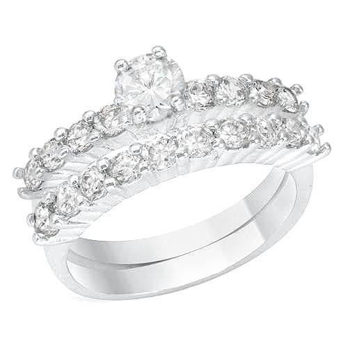 Wedding Set Cubic Zirconia - Size 7 on #iDealSmarter