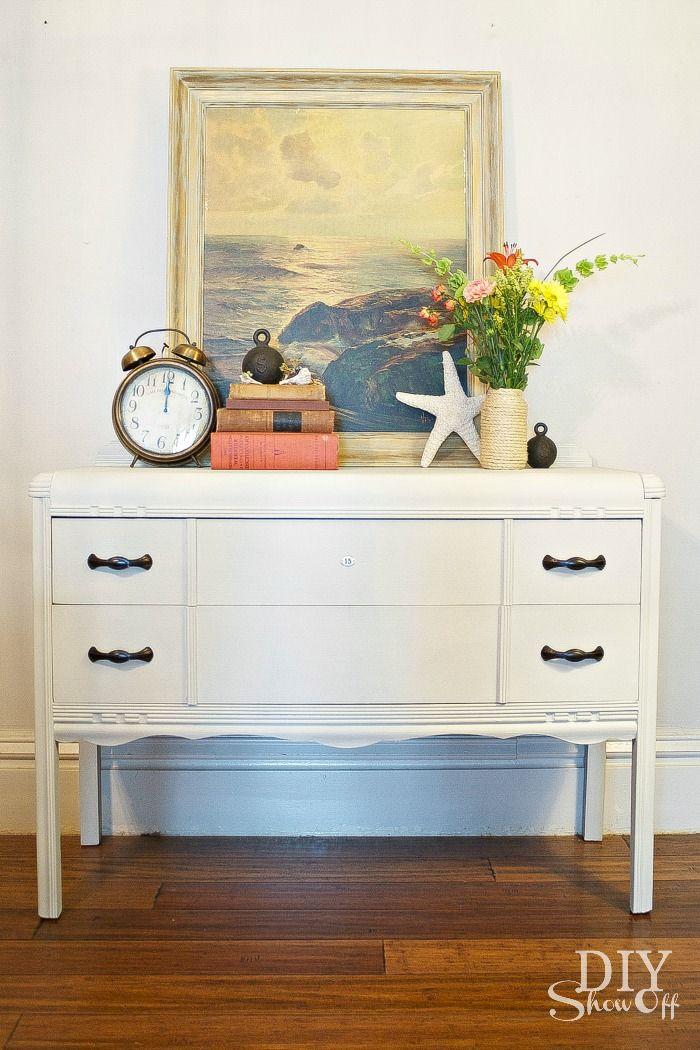 diyshowoff.com - painted dresser tutorial, Maison Blanche furniture paint & lime wax @DIY Show Off