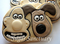 Wallace and Gromit cookies by Sugar Sanctuary
