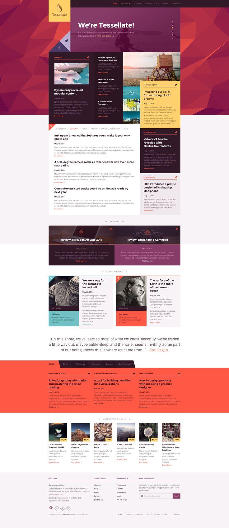 Tessellate Unique Web Design Web Design Web Layout Design