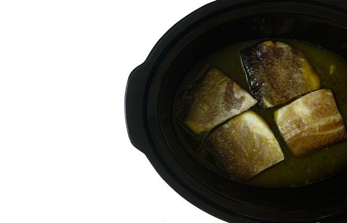 Bacalao confitado. Receta para crock pot