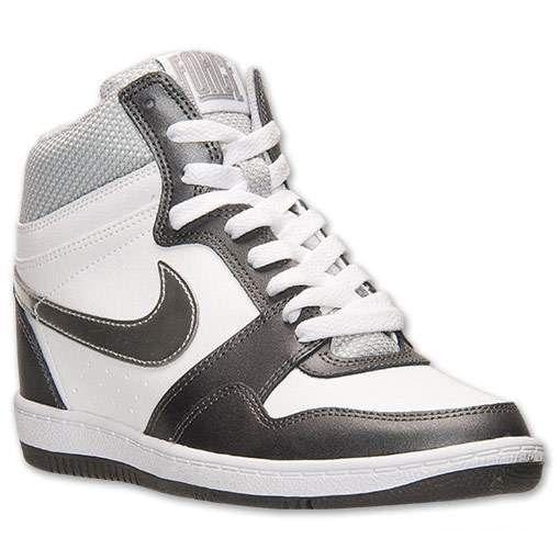 scarpe da ginnastica da donna 179532 | nike forza Sky High scarpe casual bianco argento metallizzato grigio scuro 629746103