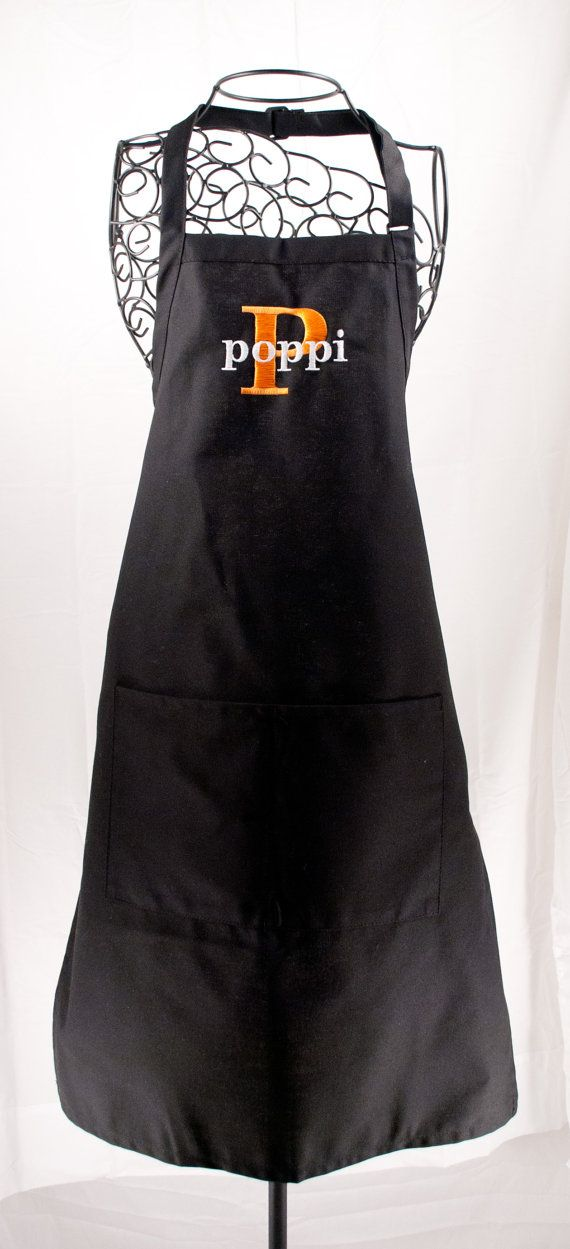 Personalized Men's/Boys Apron Black by MilliesGifts on Etsy