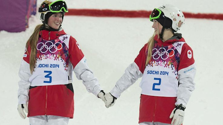 #Sochi 2014 - Justine and Chloe Dufour-Lapoint, Gold and Silver Medalists - Women's Moguls