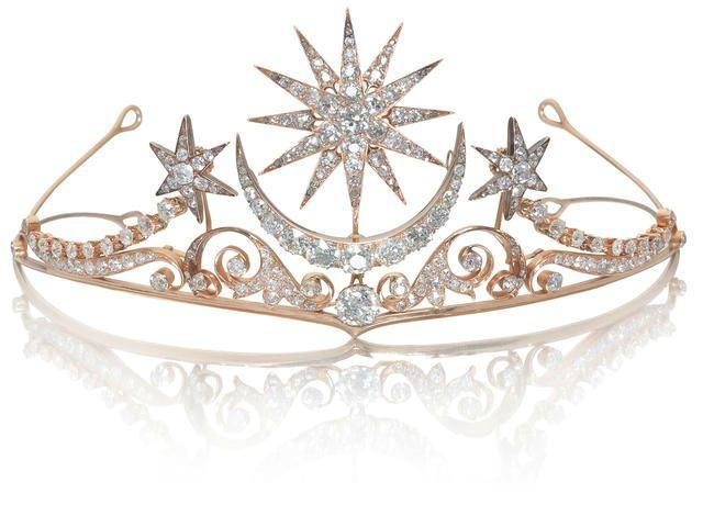 A moon + star diamond tiara, circa 1900 - - who doesn't need a tiara for princess days?