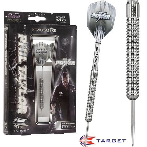 Phil Taylor Darts - Target Steel Tip Tungsten Darts - Phil Taylor - The Power - Power 9Zero