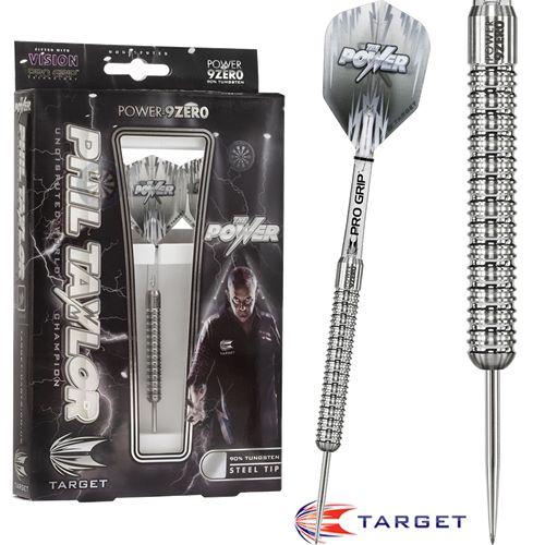 Phil Taylor Darts - Target Steel Tip Tungsten Darts - Phil Taylor - The Power - Power 9Zero
