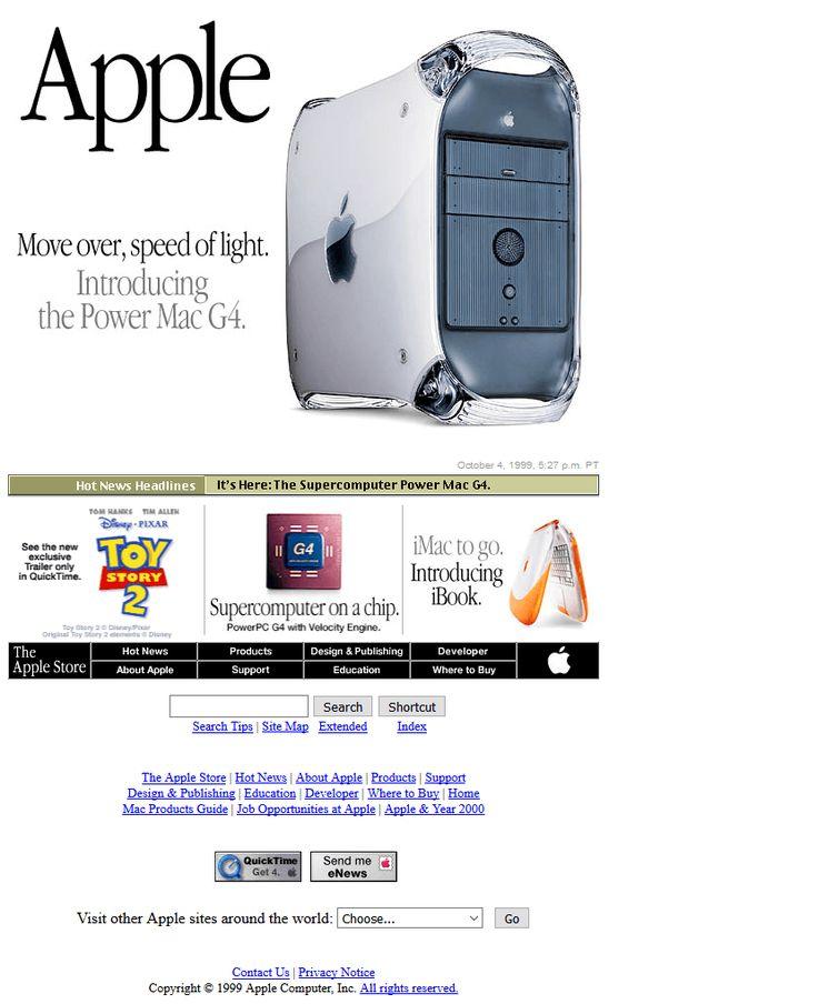 Apple website in 1999