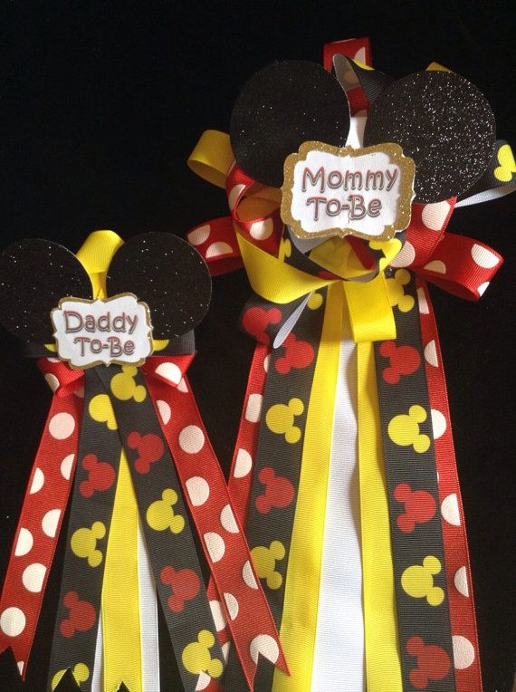 Mickey Mouse Baby Shower Mommy And Daddy To Be By CutestFavors